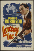 """Movie Posters:Comedy, Larceny, Inc. Lot (Warner Brothers, 1942). One Sheet (27"""" X 41"""")and Lobby Cards (2) (111"""" x 14""""). Comedy.. ... (Total: 3 Items)"""