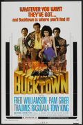 "Movie Posters:Blaxploitation, Bucktown Lot (American International, 1975). One Sheet (27"" X 41"") and Program (Multiple Pages, 11.75"" X 11.75""). Blaxploita... (Total: 2 Items)"