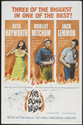 "Movie Posters:Adventure, Fire Down Below (Columbia, 1957). One Sheet (27"" X 41""), Lobby CardSet of 8 (11"" X 14"") and Pressbook (12"" X 16""). Adventur... (Total:10 Items)"