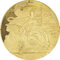 Miscellaneous Collectibles:General, 1896 Athens Summer Olympic Games Gold Participation Medal withBox....