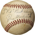 Autographs:Baseballs, Late 1940's Joe Medwick Single Signed Baseball....