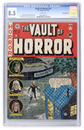 Golden Age (1938-1955):Horror, Vault of Horror #21 White Mountain pedigree (EC, 1951) CGC VF+ 8.5White pages....