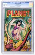 Golden Age (1938-1955):Science Fiction, Planet Comics #44 (Fiction House, 1946) CGC VF+ 8.5 Cream tooff-white pages....