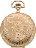 Timepieces:Pocket (post 1900), Waltham Mint Hunters Case with Eagle, Circa 1908. ...