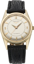 Timepieces:Wristwatch, Longines Gent's Gold Automatic Wristwatch, circa 1950. ...