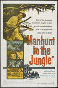 "Movie Posters:Adventure, Manhunt in the Jungle (Warner Brothers, 1958). One Sheet (27"" X41""). Adventure.. ..."