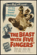 """Movie Posters:Horror, The Beast with Five Fingers (Warner Brothers, 1947). One Sheet (27""""X 41""""). Horror.. ..."""