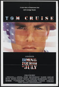"Movie Posters:War, Born on the Fourth of July (Universal, 1989). One Sheet (26.75"" X40"") DS and Credits Card (9"" X 12""). War.. ... (Total: 2 Items)"