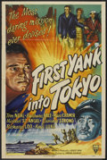 "Movie Posters:War, First Yank Into Tokyo (RKO, 1945). One Sheet (27"" X 41""), TitleCard and Lobby Card (11"" X 14""). War.. ... (Total: 3 Item)"