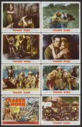 "Movie Posters:Adventure, Trader Horn (MGM, R-1953). Lobby Card Set of 8 (11"" X 14"").Adventure.. ... (Total: 8 Items)"