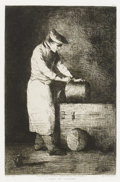 Prints:Old Master, After AUGUSTIN THÉODULE RIBOT (French, 1823-1891). L'Aide deCuisine . Etching. 9-1/2 x 6-1/4 inches (24.1 x 15.9 cm). S...