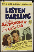 "Movie Posters:Comedy, Listen, Darling (MGM, 1938). One Sheet (27"" X 41"") Style D.Comedy.. ..."