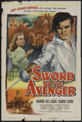 "Movie Posters:Adventure, Sword of the Avenger (Eagle Lion, 1948). One Sheet (27"" X 41"").Adventure.. ..."