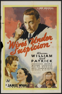 "Wives Under Suspicion (Universal, 1938). One Sheet (27"" X 41""). Crime"