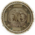 """Political:3D & Other Display (1896-present), Roosevelt & Fairbanks: Jugate """"Crystlegraph"""" Paperweight. ..."""