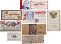 Political:Small Paper (1896-present), Harry S Truman: Large Lot of Truman Event Tickets.... (Total: 8 Items)