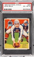 Football Cards:Singles (Pre-1950), 1935 National Chicle John Isola #26 PSA EX-MT 6....