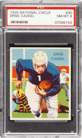 Football Cards:Singles (Pre-1950), 1935 National Chicle Ernie Caddel #30 PSA NM-MT 8....