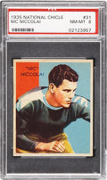 Football Cards:Singles (Pre-1950), 1935 National Chicle Nic Niccolai #31 PSA NM-MT 8....