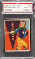 Football Cards:Singles (Pre-1950), 1935 National Chicle Chester Johnston #32 PSA NM-MT 8....