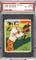 Football Cards:Singles (Pre-1950), 1935 National Chicle Luke Johnsos #35 PSA EX-MT 6....
