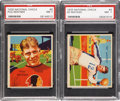 Football Cards:Singles (Pre-1950), 1935 National Chicle Football PSA NM 7 Graded Pair (2)....