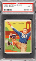 Football Cards:Singles (Pre-1950), 1935 National Chicle Ken Strong #7 PSA NM 7....