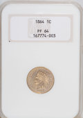 Proof Indian Cents: , 1864 1C Copper-Nickel PR64 NGC. PCGS Population (74/54). Mintage: 370. Numismedia Wsl. Price for NGC/PCG...