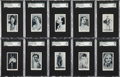 "Non-Sport Cards:Sets, 1934 Teofani ""Modern Movie Stars"" High End SGC-Graded Complete Set(48)...."