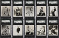 "Non-Sport Cards:Sets, 1939 Carreras ""Glamour Girls of Stage and Films-Large"" High EndSGC-Graded Complete Set (36)...."