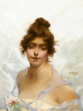 Fine Art - Painting, European, CHARLES CHAPLIN (French, 1825-1911). Portrait of a Lady. Oilon canvas. 25-1/2 x 20 inches (64.8 x 50.8 cm). Signed cent...