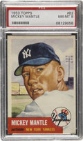 Baseball Cards:Singles (1950-1959), 1953 Topps Mickey Mantle #82 PSA NM-MT 8....