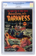 Golden Age (1938-1955):Horror, Adventures Into Darkness #14 (Standard, 1954) CGC VF- 7.5 Cream tooff-white pages....