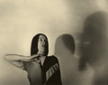 Photography :20th Century , BARBARA MORGAN (American, 1900-1992). Martha Graham - Indian Solo - American Document, 1938-1946. Vintage gelatin silver...