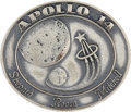Explorers:Space Exploration, Apollo 14 Flown Silver Robbins Medallion Directly from the PersonalCollection of Backup Command Module Pilot Ron Evans, Seria...