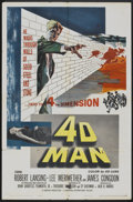 "Movie Posters:Science Fiction, 4D Man (Universal International, 1959). One Sheet (27"" X 41"").Science Fiction.. ..."