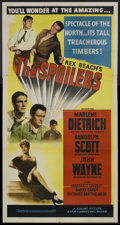 "Movie Posters:Western, The Spoilers (Realart, R-1950s). Three Sheet (41"" X 81""). Western.. ..."