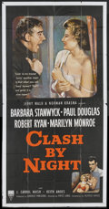 "Movie Posters:Drama, Clash By Night (RKO, 1952). Three Sheet (41"" X 81""). Drama.. ..."