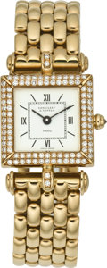 "Timepieces:Wristwatch, Van Cleef & Arpels ""Fantasy"" Lady's Gold Wristwatch, circa1990's. ..."