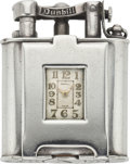 Timepieces:Other , Dunhill Vintage Sterling Lighter Watch with Original Box, circa 1928. ...