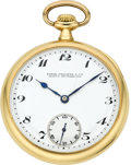 Timepieces:Pocket (post 1900), Patek Philippe Men's Gold Pocket Watch, circa 1915. ...