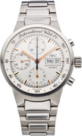 Timepieces:Wristwatch, IWC Steel Ref. 3707 Automatic Chronograph, circa 1990's. ...