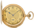 "Timepieces:Pocket (post 1900), Swiss ""Graziosa"" Gold Minute Repeater, circa 1905. ..."