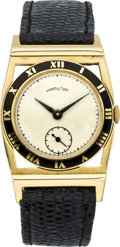 Timepieces:Wristwatch, Hamilton Gold Piping Rock Wristwatch, circa 1937. ...