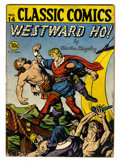 Golden Age (1938-1955):Classics Illustrated, Classic Comics #14 Westward Ho! (Gilberton, 1943) Condition: GD....