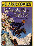 Golden Age (1938-1955):Classics Illustrated, Classic Comics #12 Rip Van Winkle and the Headless Horseman(Gilberton, 1943) Condition: GD/VG....