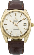 Timepieces:Wristwatch, Omega Men's Gold Seamaster Chronometer, circa 1967. ...
