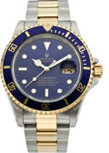 Timepieces:Wristwatch, Rolex Steel & Gold Submariner, Ref. 16613, circa 1995. ...