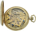 Timepieces:Pocket (post 1900), Dudley Model No. 1 Gold Masonic Pocket Watch, circa 1924. ...