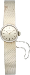 Timepieces:Wristwatch, Patek Philippe Lady's White Gold Wristwatch, circa 1968. ...